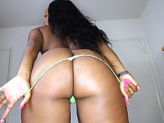 Ultra-cute big donk dark-hued woman Jayden Starr receives a spunk douche on her face and pecs after fellating and fucking a mean big dick